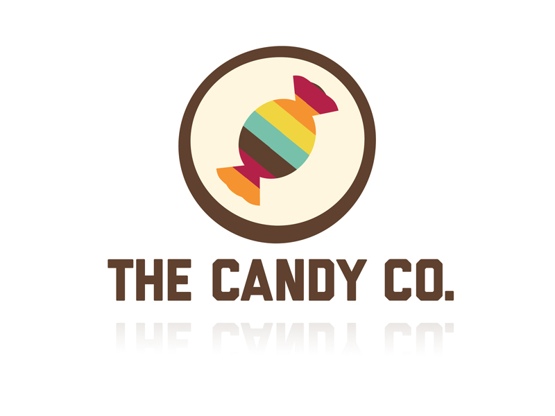 doodlemoose designs candy co sweet shop logo design