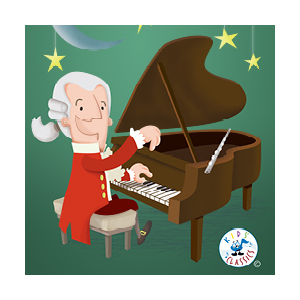 Mozart illustration cartoon portfolio